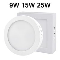 AC 85-265V 9W 15W 25W Surface Mounted LED-Downlight Dimmbare Panel Licht SMD2835 führte ultradünne Kreis Decke unten Lampe Küche Badezimmer