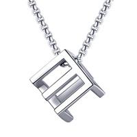 Mode Männer Frauen Liebe Rubik's Cube Anhänger Designer Halskette Hip Hop Schmuck Silber Schwarz Schlangenkette Edelstahl Punk Halsketten Geschenke für Herren