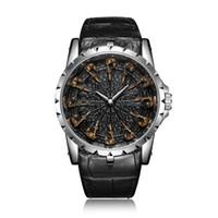 marca ONOLA homem luxo exclusivo relógio de quartzo rosa dom couro fresco ouro para o homem relógio moda casual impermeável Relogio Masculino