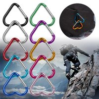 Heart-shaped Aluminum Alloy Carabiner Key Chain Clip Outdoor Camping Keychain Hook Water Bottle Hanging Buckle Travel Kit Rock Climbing