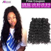 Indian Water Wave Virgin Hair 4PCS Indian Wet and Wavy Human Hair Extensions 8A Brazilian Indian Peruvian Hair Weave Bundles