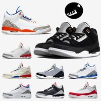 Nike Air Jordan Retro 3 3s 남성 농구 닉스 신발 2019 새로운 패션 3 3S는 팅커 블랙 시멘트 골드 3M 반사 BLACK CAT Jumpman 남성 운동화 스니커즈를 경쟁자