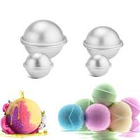 3D سبائك الألومنيوم والكيك حمام قالب قنبلة الخبز قوالب الشواء الكرة العفن الخاصة يحبك اليدوية 3 مقاسات LX8617