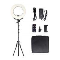14 Zoll LED-Ringlicht mit Standplatz-Telefon-Halter Fernbedienung Außenbeleuchtung Kit 38W 3200K-5500K für Video Shooting Make-up Fotografie