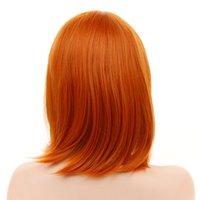 Head perruque droite cheveux courte vague courte cosplay franges de rôle 12 pouces jouant aux femmes naturelles bouclés si vrais cheveux en 4 couleurs beauté femme