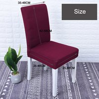 Commercio all'ingrosso Hotel Dining Chair Covers elastico comodo respirabile lavabile Per Ristorante Matrimoni Banchetto hotel Copertura della sedia DBC DH0634
