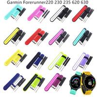 Силиконовый ремешок для часов Сменные наручные часы ремешок с ремешком для инструмента для Garmin Forerunner 220/230/235/620/630 Smart Watch Accessories