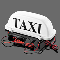 CAR Taxi Top Light/New LED Roof Taxi Sign 12V with Magnetic Base Green/Red/Blue/White optional
