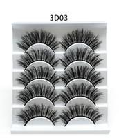 Herramientas NUEVO 5Pairs Faux 3D Mink pestañas pestañas falsas natural grueso de largas pestañas ojo pestaña Extensión Etéreo el maquillaje de belleza 5style DHL
