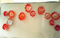 Украшение современного искусства OEM Рот Стеклянные Подвесные тарелки Дейл Chihully Стиль Ручной Выдувное Стекло Стены Искусства