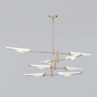 Moderne salon Lustre Éclairage Pour Salon 4/6/8 bras en métal abat-jour lustre noir / blanc cuisine luminaire LED Lustre