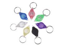 هدية صغيرة الأزياء مفتاح الدائري البسيطة مشاعل الأشعة فوق البنفسجية رخيصة للكشف عن المال الصمام سلسلة المفاتيح الخفيفة متعدد الألوان DH0154