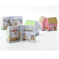 Admission colorée Tinplate Container Box Mini Maison Boîtes d'impression Motif Boîte Festival de l'activité Accessoires Multi Function 2 5 g