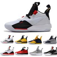 Yüksek Kalite Yeni 33 XXXIII Basketbol Ayakkabıları Siyah Spor Adam Beyaz Alt Sneaker Eğitim Ayakkabı Yeni Satış