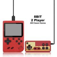 Les joueurs de jeu portable de poche Console de jeux Retro Mini consoles 400 classiques TV Support Connection Jeux FC et deux joueurs de jeux