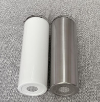 STRAIGHT! 20oz Sublimation Straight Tumblers Stainless Steel...