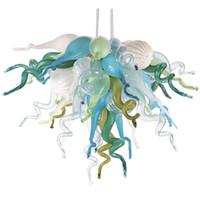 Lampes à la main Charniers soufflés Petite taille Art Art Décoration Multicolore Lustre Lustre Luge de lustre pour salon