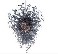 Hohe Decke antike Leuchter Rustic Grau schnelle Anlieferung geblasenem Glas-Qualitäts-Decke für Wohnzimmer-Dekoration