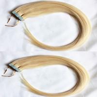 Extensions de bandes de cheveux humains droits 50g / Pack 20pcs / Pack Blonde 100% Extensions de cheveux de trame de peau humaine 16-26 pouces