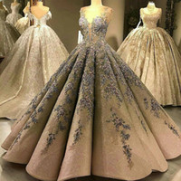 2019 Luxury Sequined Prom Dresses Sweetheart Lace Applique B...