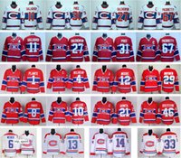 Montreal Canadiens Hóquei 27 Alex Galchenyuk Jersey 2016 Inverno Clássico 65 Andrew Shaw 92 Jonathan Drouin 4 Jean Beliveau 65 Andrew Shaw