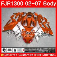 Kit für YAMAHA FJR1300A FJR-1300 2001 2002 2003 2004 2005 2006 2007 120HM.68 FJR 1300 FJR1300 01 02 03 04 05 06 07 Verkleidungen Orange silber