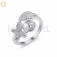 Massiness 925 Sterling Silver Butterfly Design Cubic Zirconi...