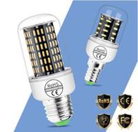 Led Corn Bulb E27 E14 Home Lamp 220V 230V Bombilla 3W 5W 7W Lampada Living Room Decoration Light 38 55 78 140leds 4014