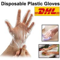 Guantes desechables de plástico de limpieza espesada Abastecimien de protección de la mano para la cocina Alimentos / limpieza / cocina / barbacoa envío rápido de DHL