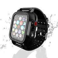 스마트 스트랩 Protector 커버 케이스 Apple Watch 4 Iwatch Band 44mm 40mm 블랙 소프트 실리콘 팔찌 방수 손목 스트랩 44mm 40mm