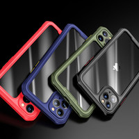 cover posteriore del telefono cellulare cassa del telefono TPU antiurto Bumper trasparente dura del PC per iPhone SE 2020 11 Pro Max