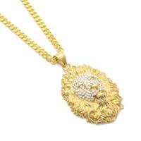 Удаленная мода подвесной хип-хоп ожерелье ювелирные изделия 2018 новая мода золотая головка льва подвесное ожерелье