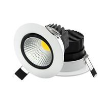 Super Brilhante Recesso Rodada LEVOU Dimmable Downlight COB 5 W 7 W 9 W 12 W Luz LED Spot LED Decoração Lâmpada Do Teto AC110V 220 V