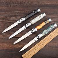 9 인치 이탈리아어 마피아 440 블레이드 야외 캠핑 사냥 도구 EDC 사냥 칼을 처리 Yalik 10 전술 자동 접이식 칼