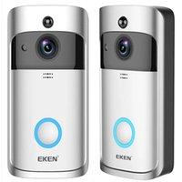 Eken V5 Akıllı WiFi Video Kapı Zili Kamera Görsel Interkom Chime Gece Görüş Ip Kapı Çan Kablosuz Ev Güvenlik Kamera