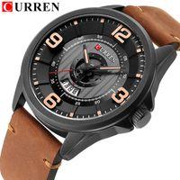 CURREN Men's Watches Top Brand Luxury Fashion Business Date Quartz Wristwatch High Quality Leather Strap Clock Montre Homme