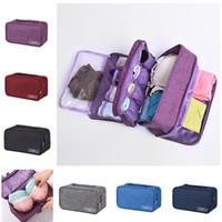 Portátiles de almacenamiento de la ropa interior del sujetador del filtro impermeable Calcetines viajes Cosméticos Organizador de cajones Armario Stuff Bolsas CPAM Bras paquete de la bolsa 5 colores del INS