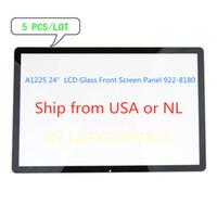 "5 PCS / LOT أمام زجاج لوحة الشاشة لأبل إيماك A1225 24 ""922-8180 (بدون أقواس) الشحن من الولايات المتحدة الأمريكية، NL أو CHN"