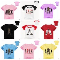 Vêtements pour bébé Apex Legends T-shirts Garçons D'été Tops Imprimé 3D Chemises Cartoon T-shirts Casual