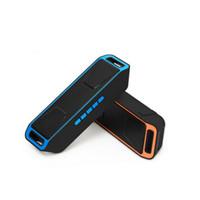 SC208 Kablosuz Hoparlör Bluetooth 4.0 Stereo Subwoofer Destek TF USB FM Radyo Dahili Mikrofon Çift Bas Ses Hoparlör Ücretsiz kargo
