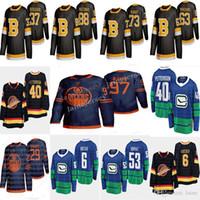 Edmonton Oilers 97 Connor McDavid Boston Bruins 37 Patrice Bergeron Vancouver Canucks 40 Pettersson Hockey Jerseys
