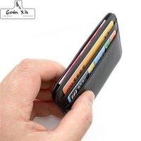 Super Slim Weiche 100% Schaffell echtes Leder-Kartenhalter-Kreditkarte-Halter-Karten-Kasten-Organisator Mini Männer Geldbörsen