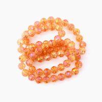 Komee 700pcs / lot multicolor val 10mm bollglas kristall pärlor charm lös spacer pärla för DIY smycken gör