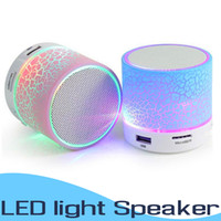 LED Portátil A9 Mini Altavoces Bluetooth Inalámbrico Inteligente Manos Libres Altavoz MP3 Audio Reproductor de música Soporte para tarjeta SD Altavoces de subwoofer