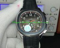 Super YLF Neue Version Luxusuhr für Männer Top Qualität 42,2 mm 5968A Leuchtende Chronograph Uhren Uhren Mens Gummi Mechanische Automatische Armbanduhr