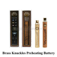 Brass Knuckles Vape Battery 650mAh Gold 900mAh Preheating Va...