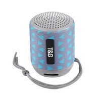 2019 미니 블루투스 스피커 TG129 무선 휴대용 서브 우퍼 MP3 플레이어 FM 라디오 오디오 TF 카드 USB 야외 휴대용 스피커