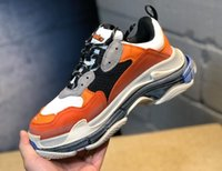 New Orange Luxury Triple S Designer Low- top Make Old Sneaker...