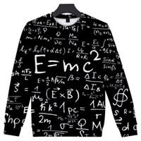 fórmula Mens Hoodie Matemática Impressão solto Womens roupa dos homens moletom com capuz Mens Womens Hip-hop Vestuário Plub Tamanho