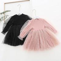 New Collar 2.020 menina miúdos Lolita Vestuário Vestido Puff luva Rodada Sólidos Color Design Princesa Exquisite Vestidos